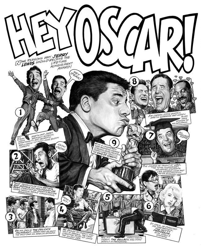 Jerry Lewis by Drew Friedman