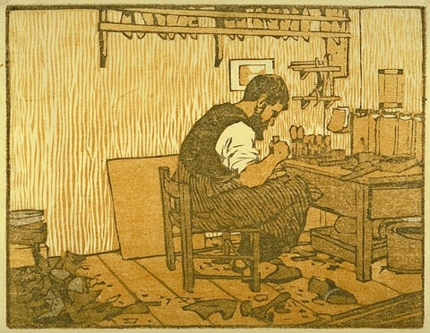 The Shoemaker- Gustave Baumann