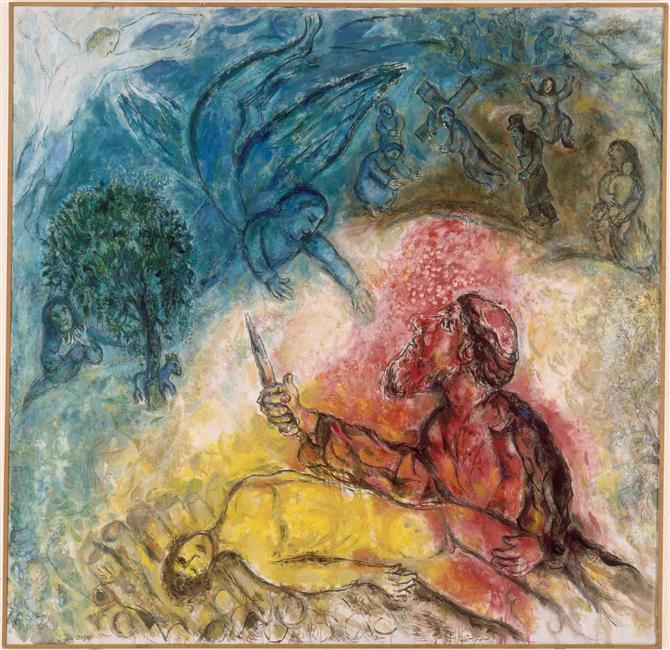 the-sacrifice-of-isaac-1966 Marc Chagall