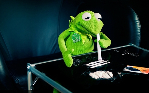 Coked up Kermie