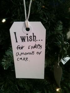 I wish for cake
